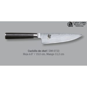Chef 12 cm cuchillo para chef de la serie kai shun damasco