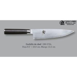 cuchillo de cocina Kai Shun Damasco chef en Barcelona