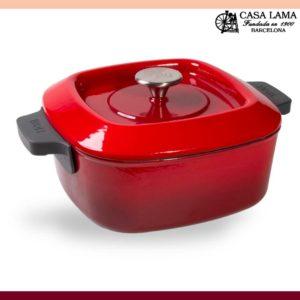 Cacerola Woll Iron 24 x 24 cm Rojo Chili.