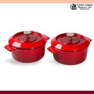 Set de 2 Cacerolas Woll Iron mini 10 cm Rojo Chili.