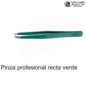 Pinza Rubis profesional recta verde