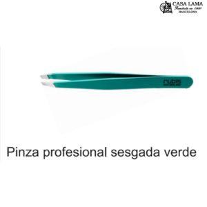 Pinza Rubis profesional sesgada verde