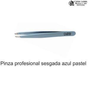 Pinza Rubis profesional sesgada azul pastel