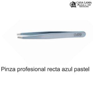 Pinza Rubis profesional recta azul pastel