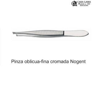 Pinza Sam-Nogent profesional sesgada-fina cromada