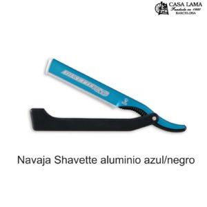 Navaja de afeitar Dovo Shavette aluminio azul/negro