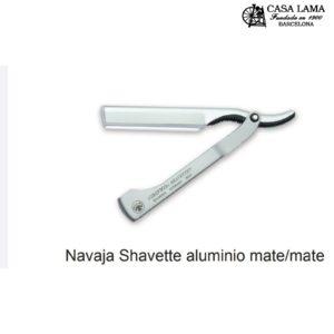 Navaja de afeitar Dovo Shavette aluminio mate/mate