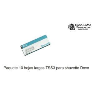 Paquete 10 hojas largas TSS3 para navajas shavette Dovo