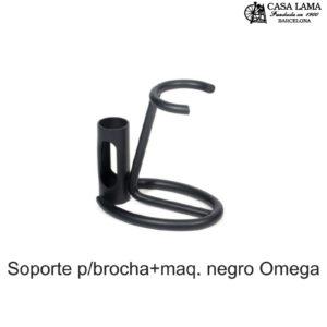 Soporte Omega para brocha+maquinilla negro