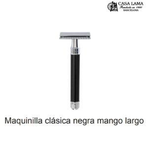 Maquina de afeitar clásica negra mango largo Edwin Jagger