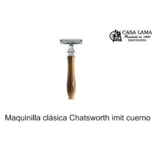 Maquina de afeitar clásica Chatsworth imitación cuerno rubio Edwin Jagger