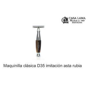 Maquina de afeitar clásica D35 imitación hasta rubia Edwin Jagger