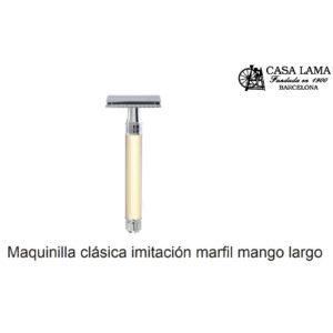 Maquina de afeitar clásica imitación marfil mango largo Edwin Jagger