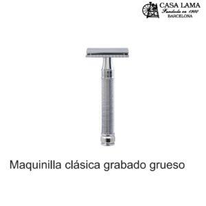 Maquina de afeitar clásica grabado grueso Edwin Jagger