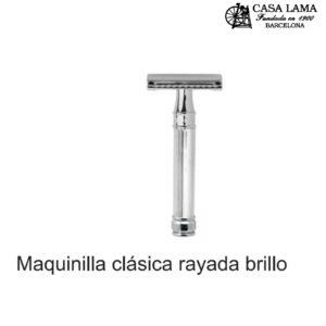 Maquina de afeitar clásicarayada brillo Edwin Jagger