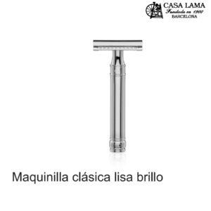 Maquina de afeitar clásica lisa brillo Edwin Jagger
