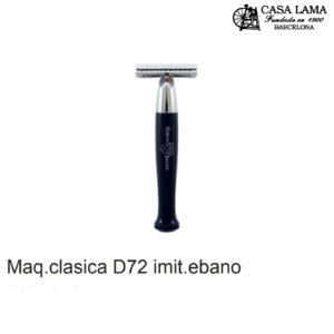 Maquina de afeitar clásica D72 imitación ébano Edwin Jagger