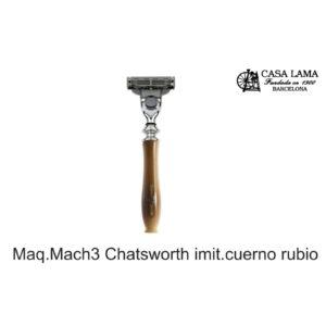 Maquina de afeitar Mach3 Chatsworth imitación cuerno rubio Edwin Jagger