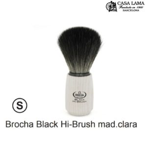 Brocha Omega Hi-Brush con mango de madera clara