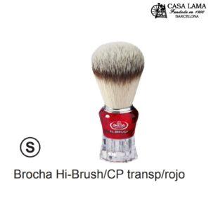 Brocha Omega Hi-Brush /CP con mango transparente/rojo