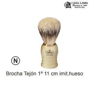 Brocha Omega tejón 1ª 11cm imitación hueso