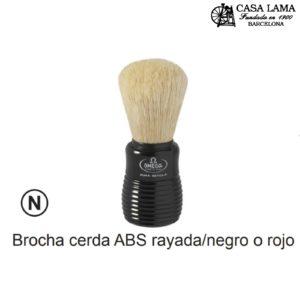Brocha Omega cerda ABS rayada/negro