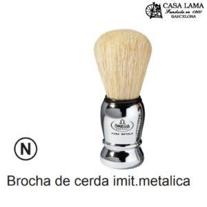 Brocha Omega cerda imitación metálica