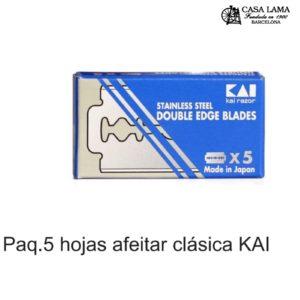 Paquete 5 hojas para afeitar clásica Kai