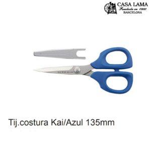 Tijera costura inox 135mmAzul/Rosa Kai serie 5000