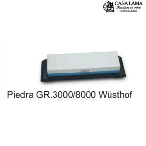 Piedra de afilar Wüsthof 3000/8000 con suporte