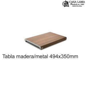 Tabla de madera/metal 494x350mm Wüsthof