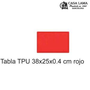Tabla TPU 38x25x0.4 cm Wüsthof negro/rojo