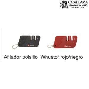 Afilador de bolsillo para cuchillos Wüsthof rojo/negro