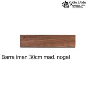 Barra magnética madera de Nogal 30cm Wüsthof
