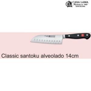 Cuchilllo Wüsthof Classic Santoku alveolado 1/2mitra 14 cm