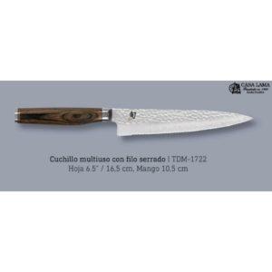Cuchillo Kai Shun Premier office dentado 16.5 cm