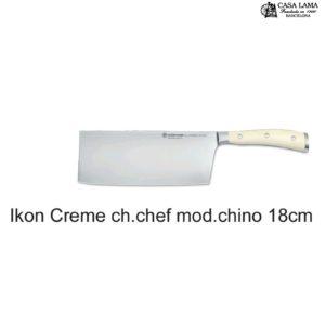 Cuchillo Wüsthof Classic Ikon Creme Modelo Chino 18 cm
