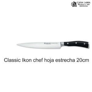 Cuchillo Wüsthof Classic Ikon Chef hoja estrecha 20 cm