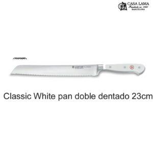 Cuchillo Wüsthof Classic White Pan doble dentado 23 cm