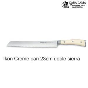 Cuchillo Wüsthof Classic Ikon Creme Pan doble sierra 23 cm