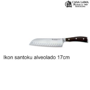 Cuchillo Wüsthof Ikon Santoku alveolado 17cm