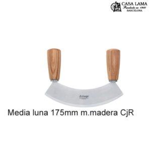 Media Luna 17,5cm con mango de madera Triangle Solingen