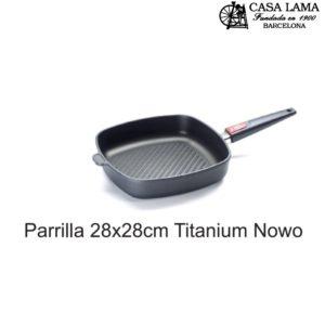 Sartén Parrilla 28x28cm Woll Titanium Nowo