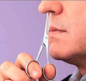 tijeras para la nariz