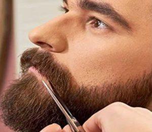tijera para bigotes